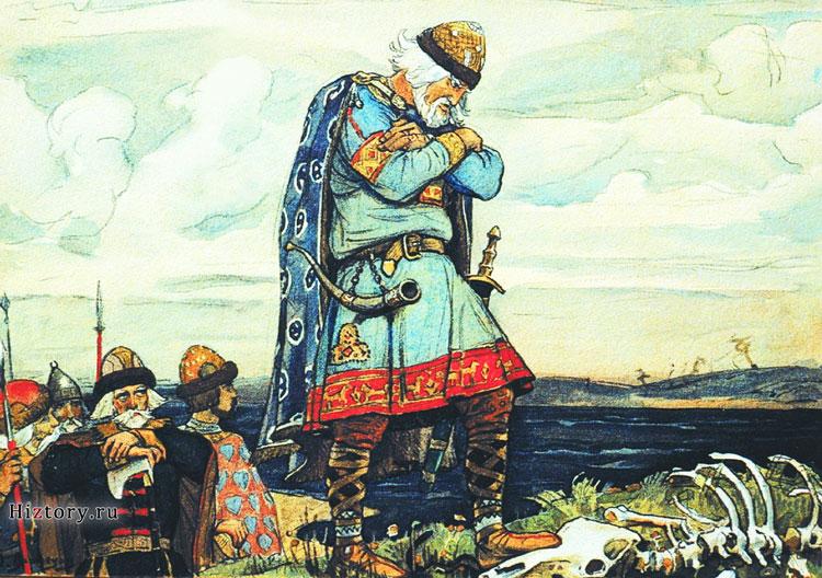 Вещий Олег выдвигается в поход на Киев.