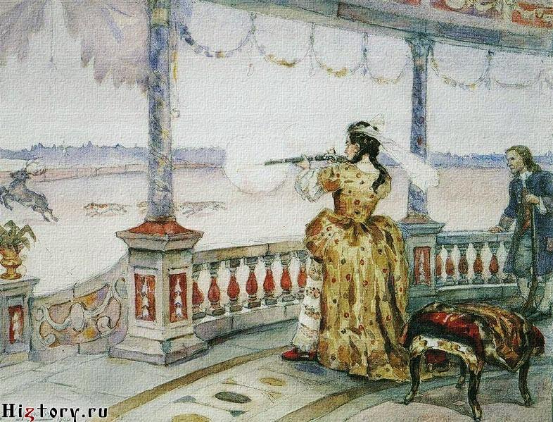 Анна Иоановна на охоте
