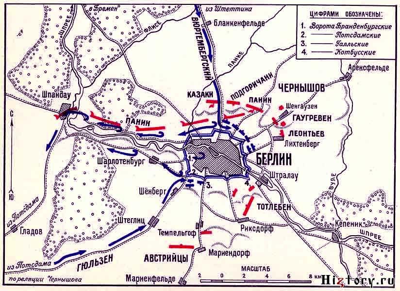 «Взятие Берлина русскими войсками 28 сентября 1760 года.»