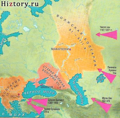 Болгария карта IX-X век