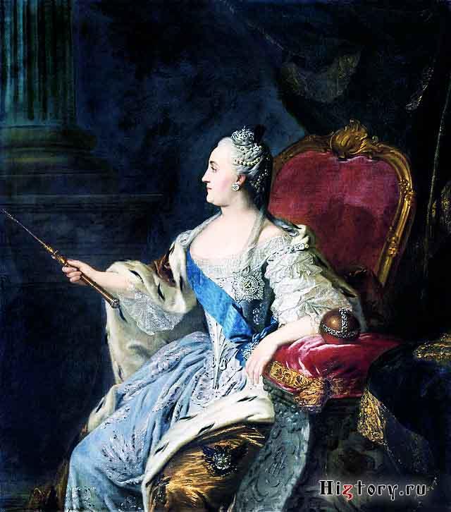Портрет Екатерины II. Ф. С. Рокотов, 1763