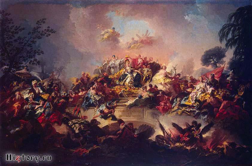 Апофеоз царствования Екатерины II ,   1767  Гульельми, Грегорио