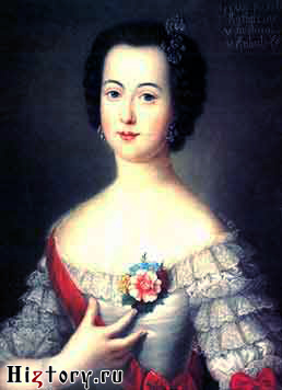 Екатерина Великая в молодости