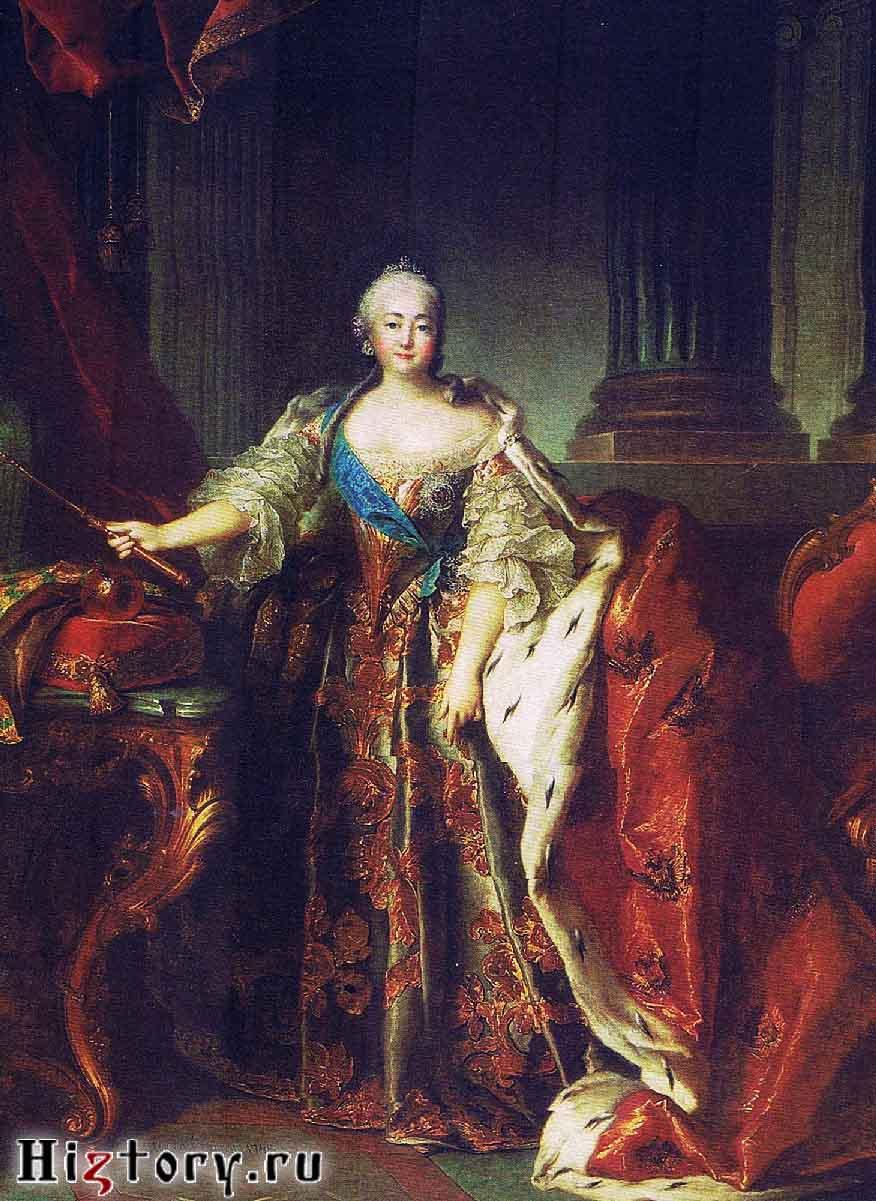 Л.Токке. Портрет императрицы Елизаветы Петровны. 1758.