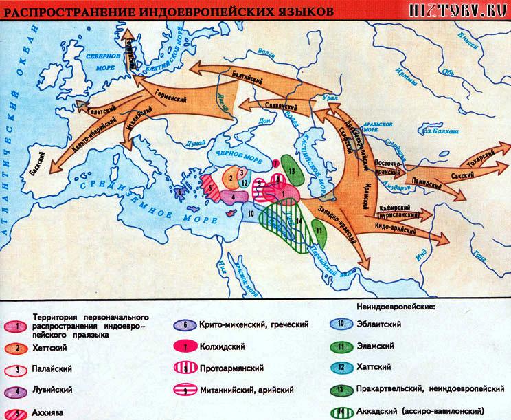 Распространение индоевропейских языков