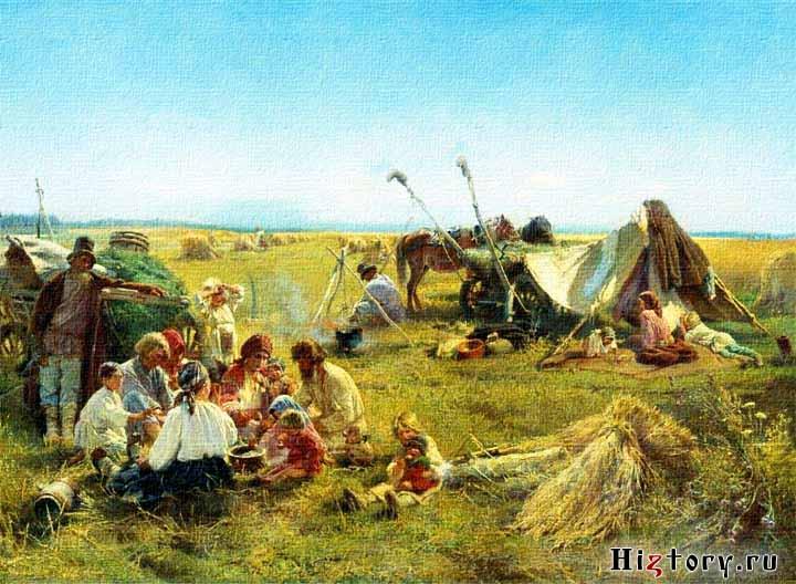 Маковский Константин Егорович,  Крестьянский обед в поле.