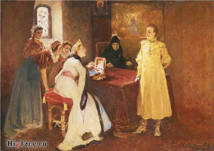 Ксения Годунова и Лжедмитрий I