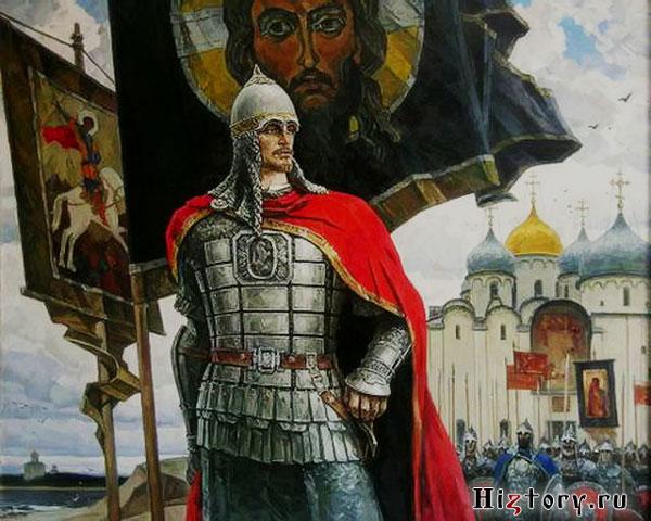 Александр Невский отправляется в поход