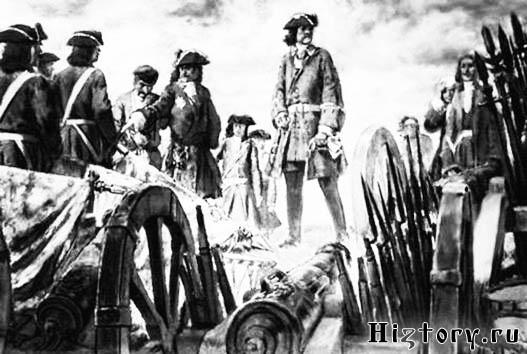 Трофеи русской армии. Рисунок Е.Е. Лансере