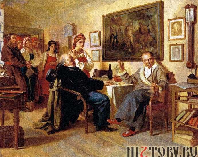 Сцена из крепостного быта. Николай Неврев. 1866