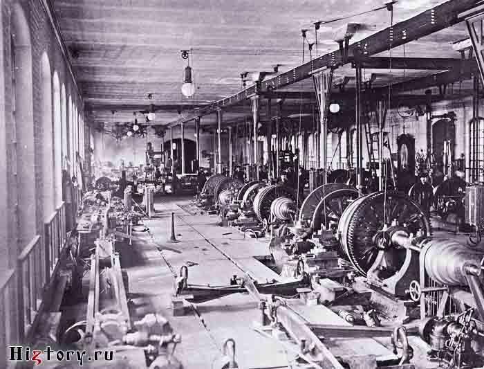 Западно-Сибирская железная дорога, токарная мастерская станции Омск. Фото конца XIX в.
