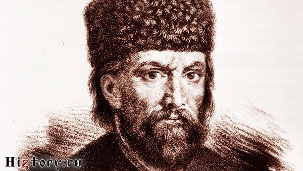 Литография Е.И. Пугачев. Художник Петр Борель