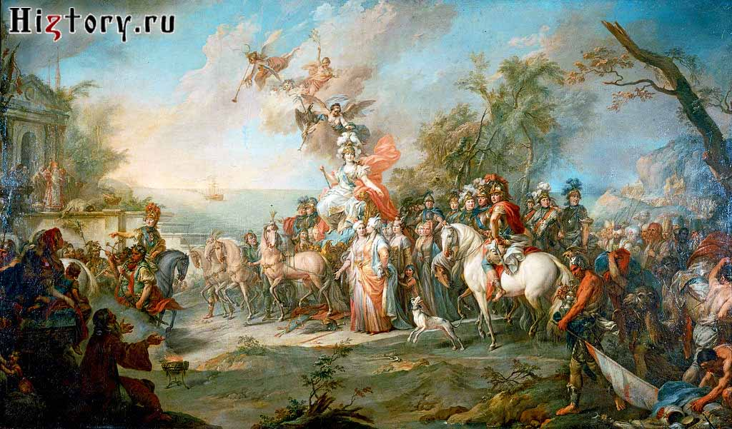 Стефано Торелли. «Аллегория на победу Екатерины II над турками и татарами»