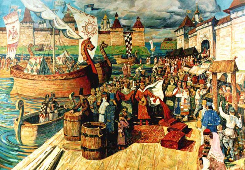 Русские купцы X век.