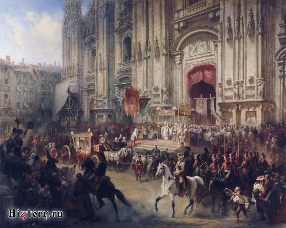 Шарлемань Адольф Иосифович. Торжественная встреча А.В. Суворова в Милане в апреле 1799 года