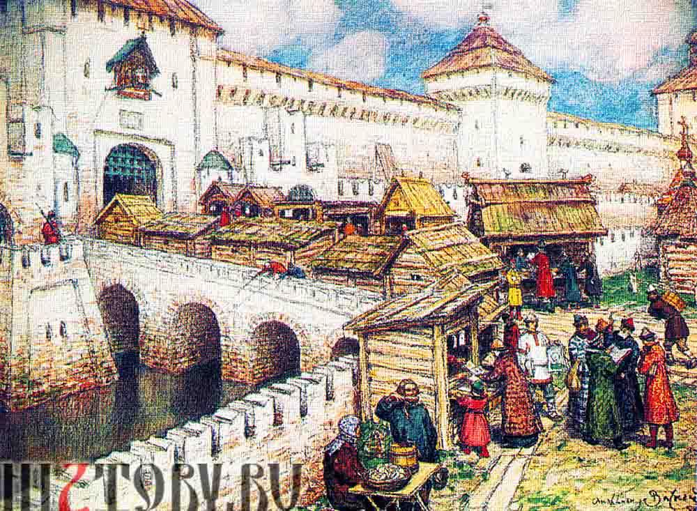 Белый город в 17 веке. Васнецов