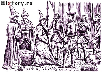 Карл XII требует от турок возобновления сражения при Пруте