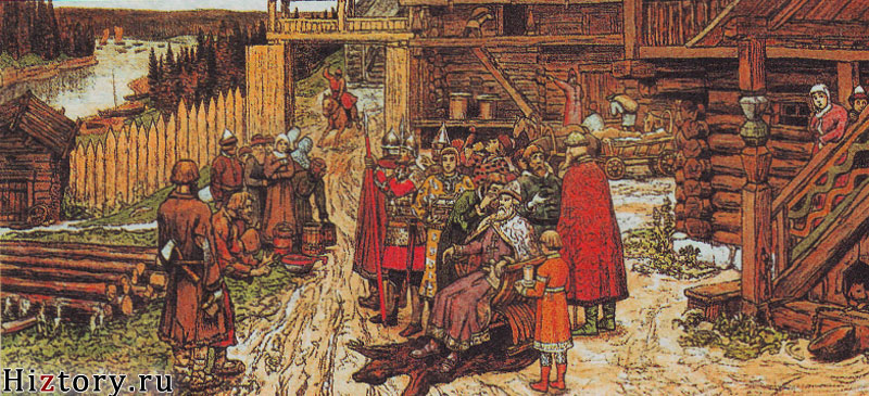 Заключение договора между Русью и Византией