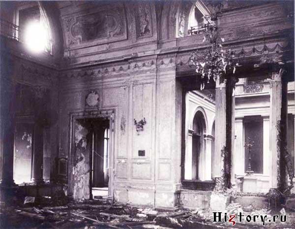 Столовая в Зимнем дворце после взрыва 5 февраля 1880 г.